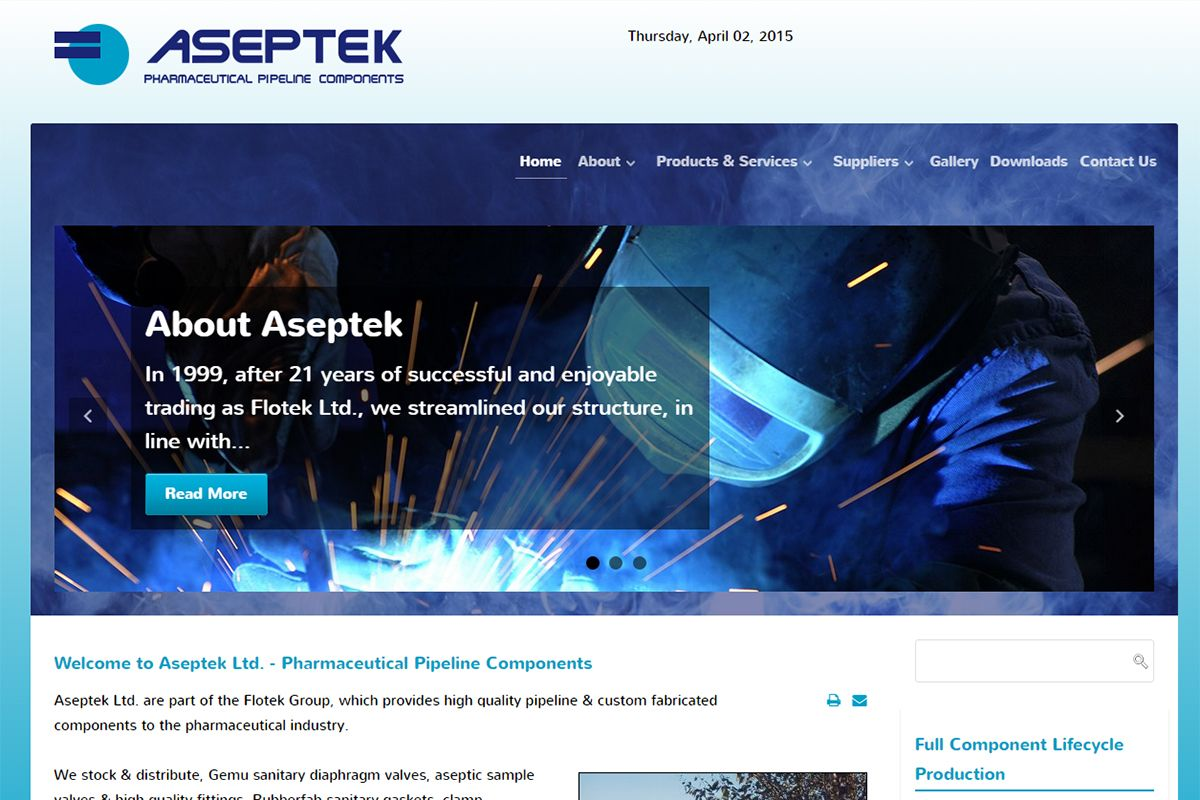 ASEPTEK - Pharmaceutical Pipeline Components