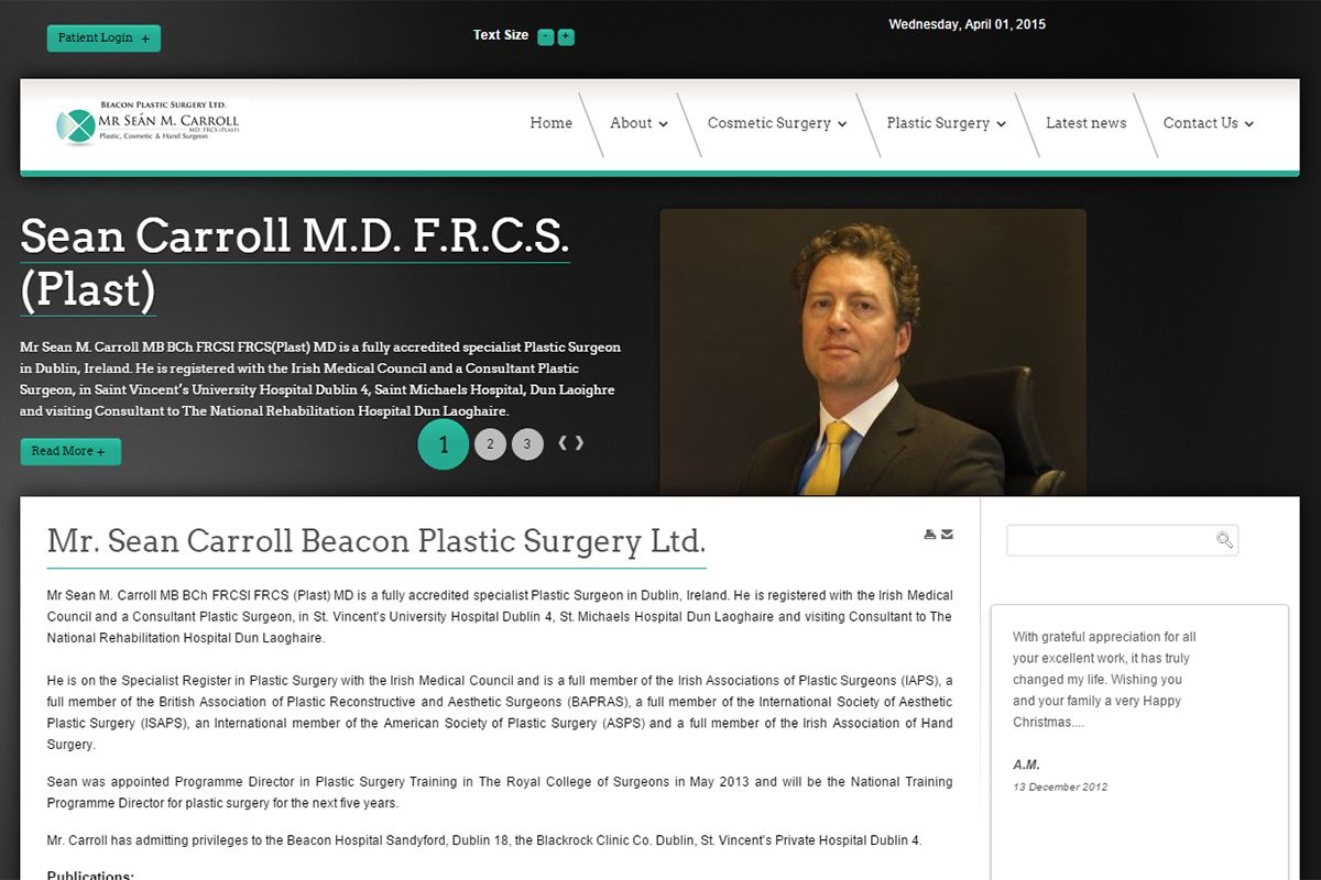 Beacon Plastic Surgery Ltd. - Mr. Sean Carroll
